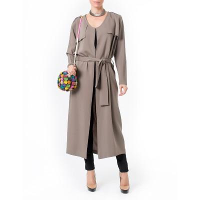 Vestido-trench-coat-midi-faixa-Carol-Bassi---Cinza---inteirofrente